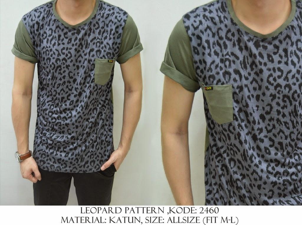 Baju Distro & Baju Kemeja Leopard Pattern