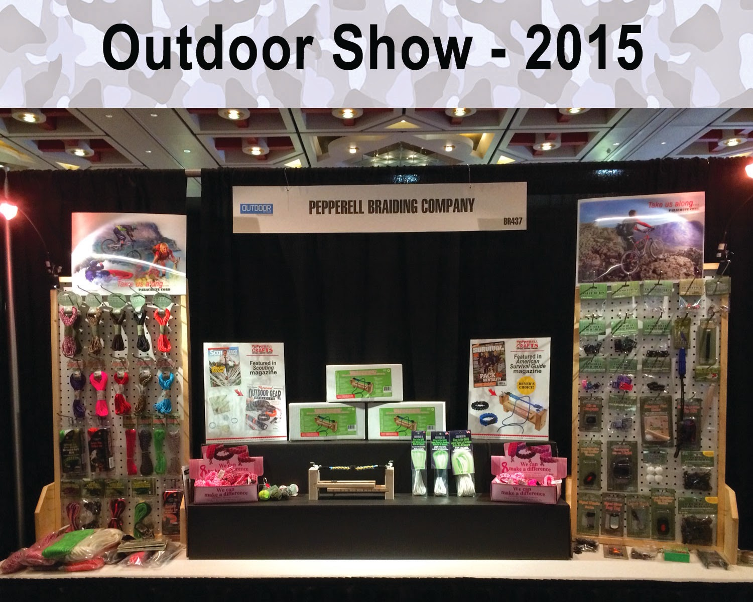 Visit Pepperell Braiding Co. at the Outdoor Show - Booth BR437
