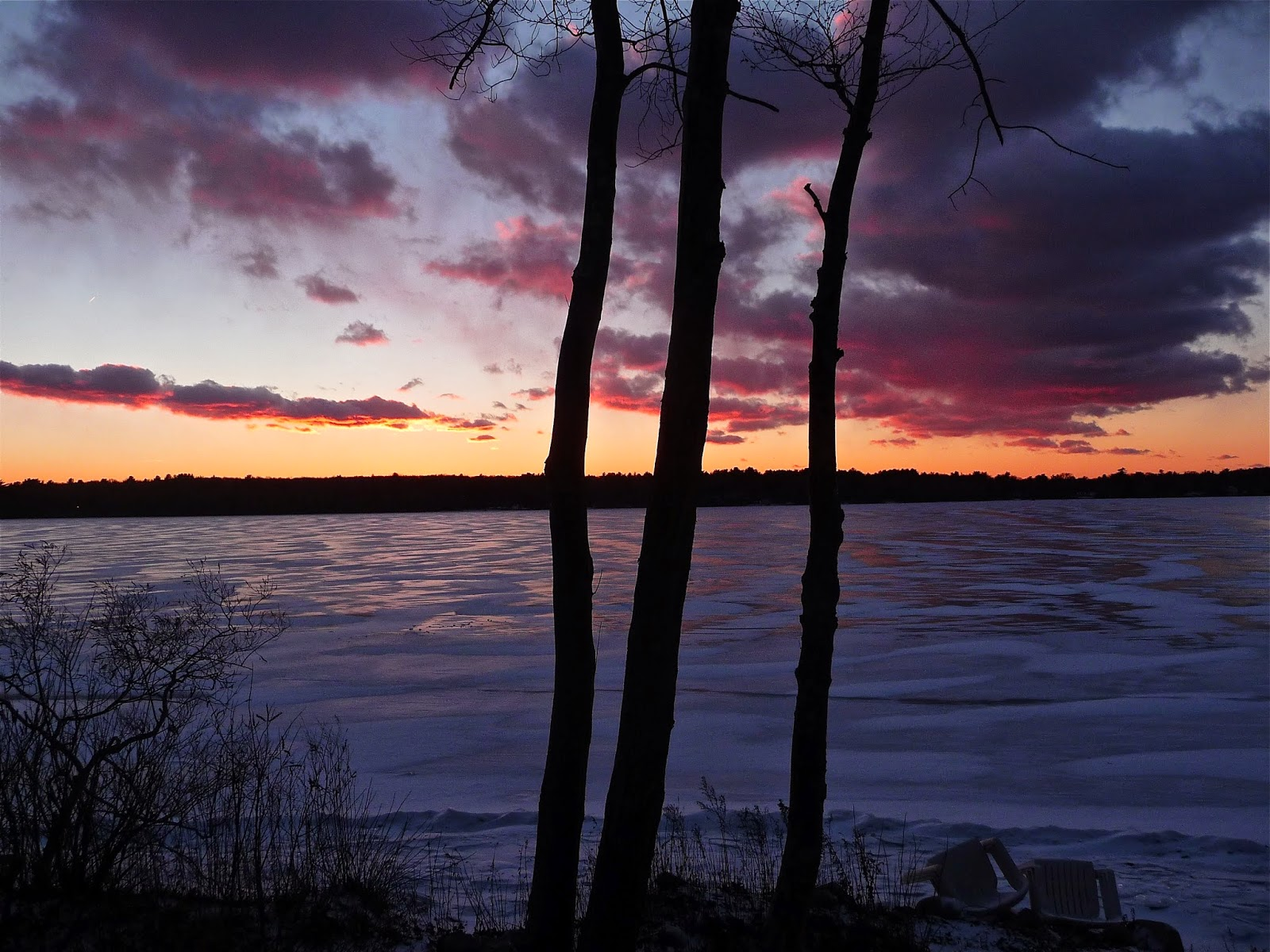 Lake Massapoag sunset, Sharon MA