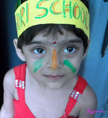 Pranitaa with colourful face