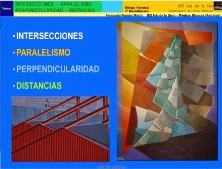 http://www.authorstream.com/Presentation/fernandorm-1786683-intersecciones-paralelismo-perpendicularidad-distancias/