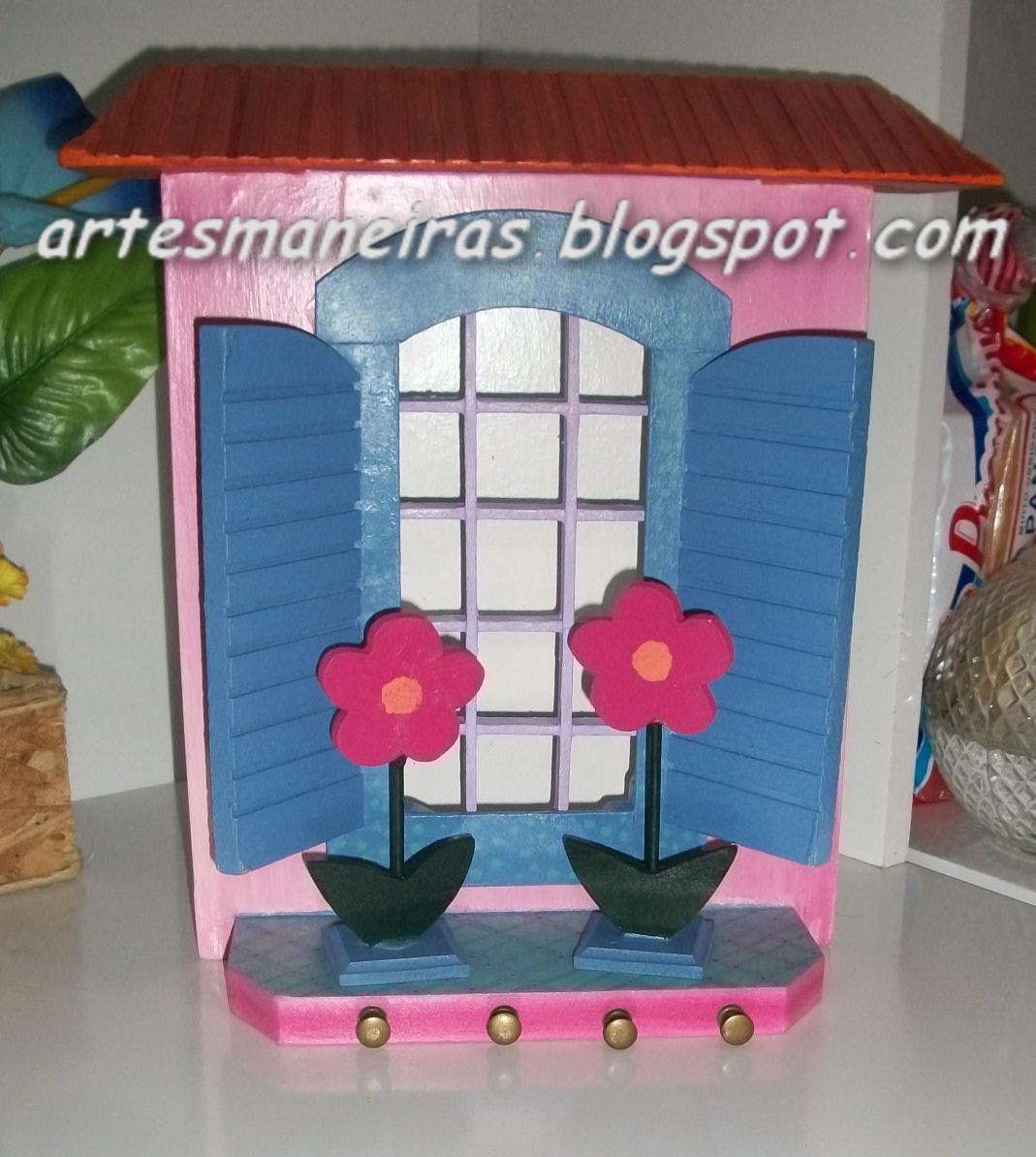 Armario Aberto Para Quarto ~ Artesanato em MDF Porta chaves e cartas em formato de casinha ~ Artes Maneiras