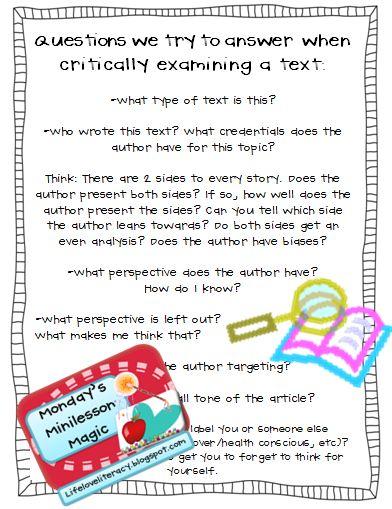 critical reading essays argument