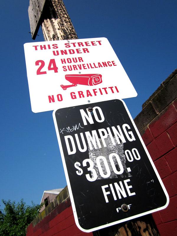 WARNING! This Street Under Surveillance! NO GRAFFITI!