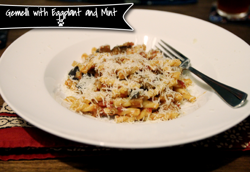 Gemelli with Eggplant and Mint