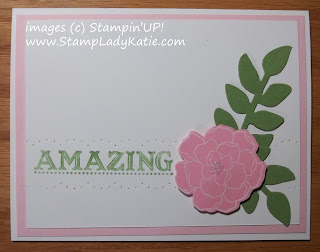 Card made with StampinUP's Secret Garden stamps and framelit dies