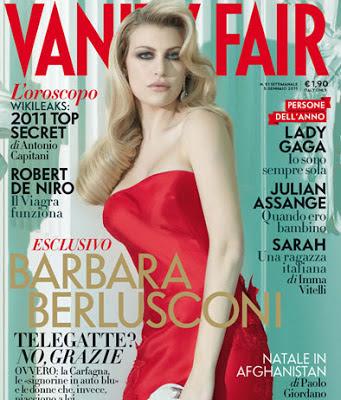 Barbara Berlusconi sulla copertina della versione italiana del mensile di moda Vanity Fair