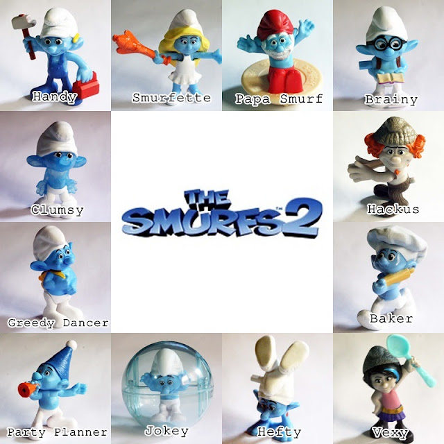 Smurfs 2 McDonald's Happy Meal Toys 2013