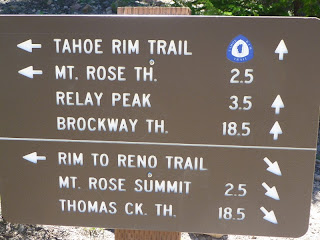 TRT signpost next to Tamarack Peak Waterfall