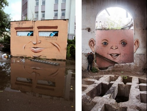 04-The-Sly-Smile-And-Just-Smile-Street-Art-Nikita-Nomerz-Derelict-Buildings