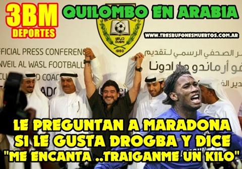 Le preguntan a Maradona si le gusta Drogba y dice me encanta