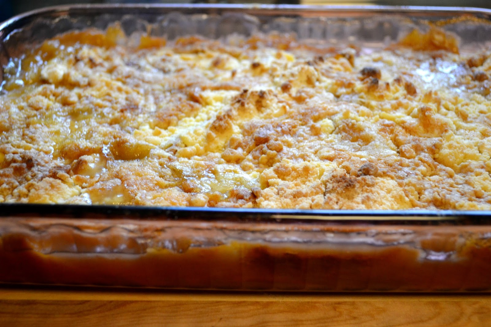 The Frugal Pantry Easy Peach Cobbler