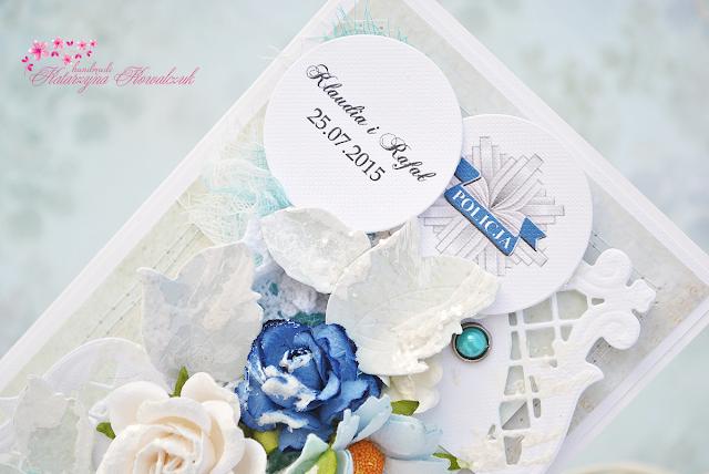 kartka ślubna dla policjanta