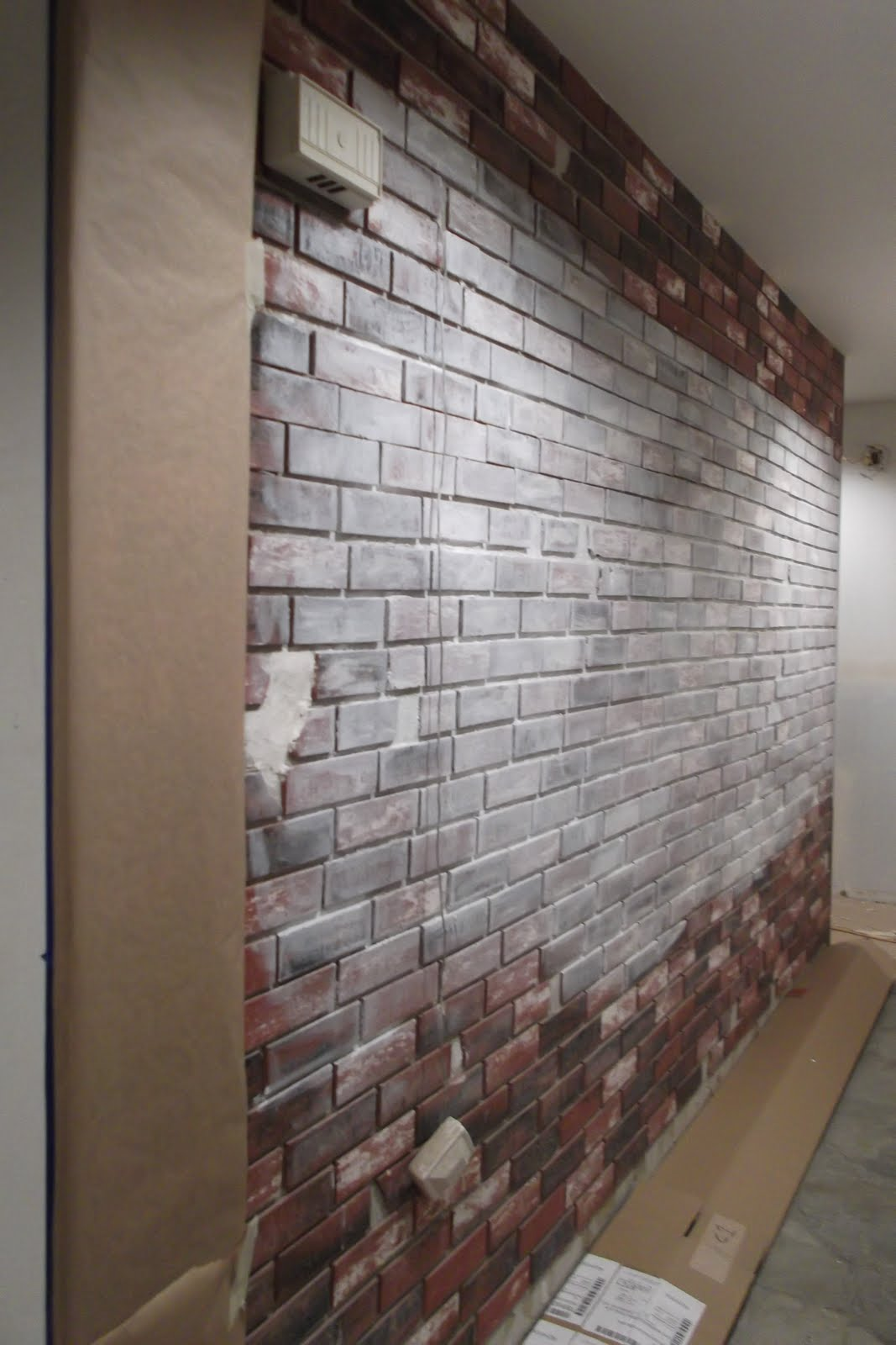 faux brick panels interior house revivals putting lipstick on a pig or painting a faux amipublicfo - Interior Faux Brick Wall Ideas