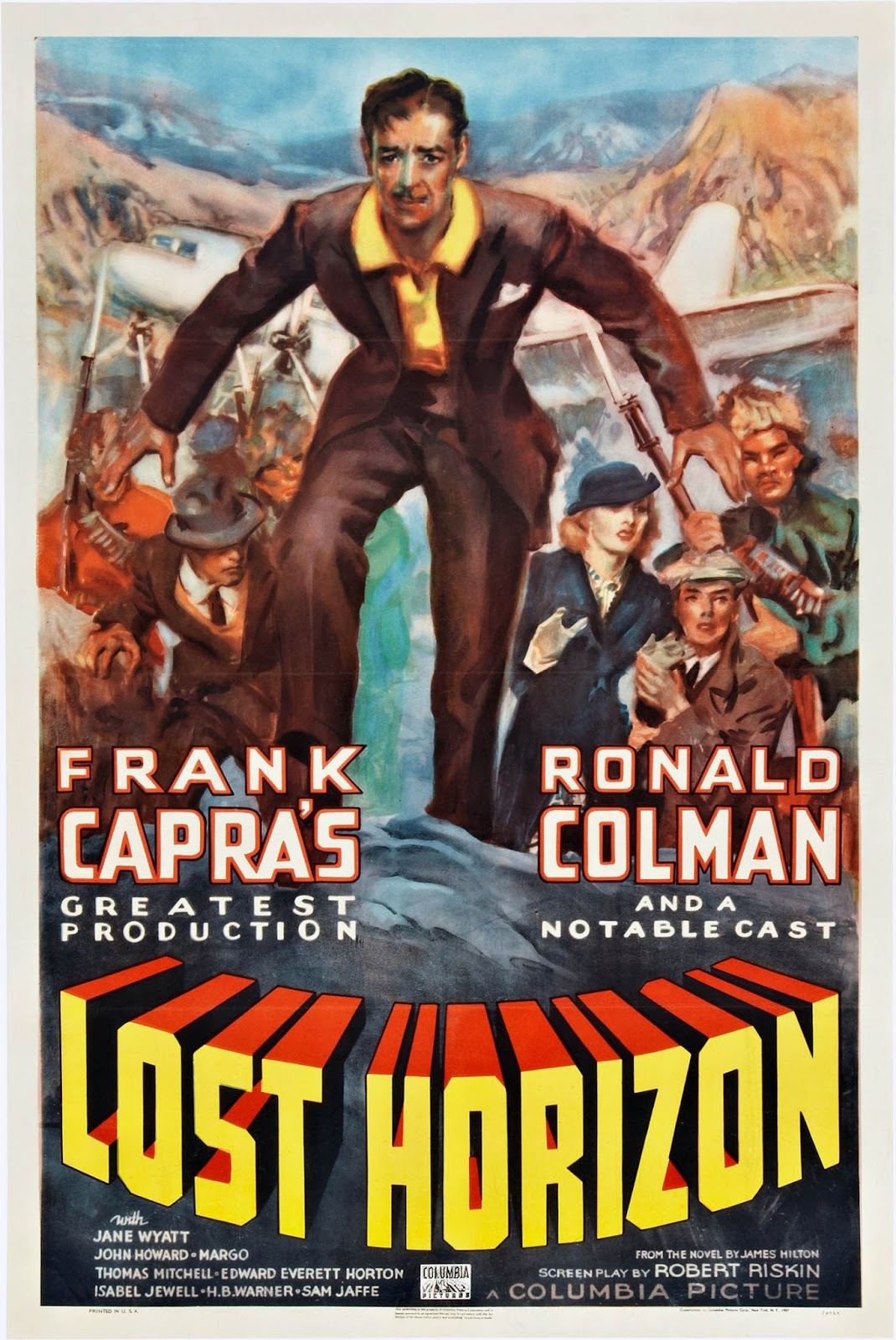 Lost Horizon: Poster with Ronald Colman | A Constantly Racing Mind