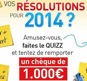 Jeu concours A gagner : 1 chèque de 1000 euros