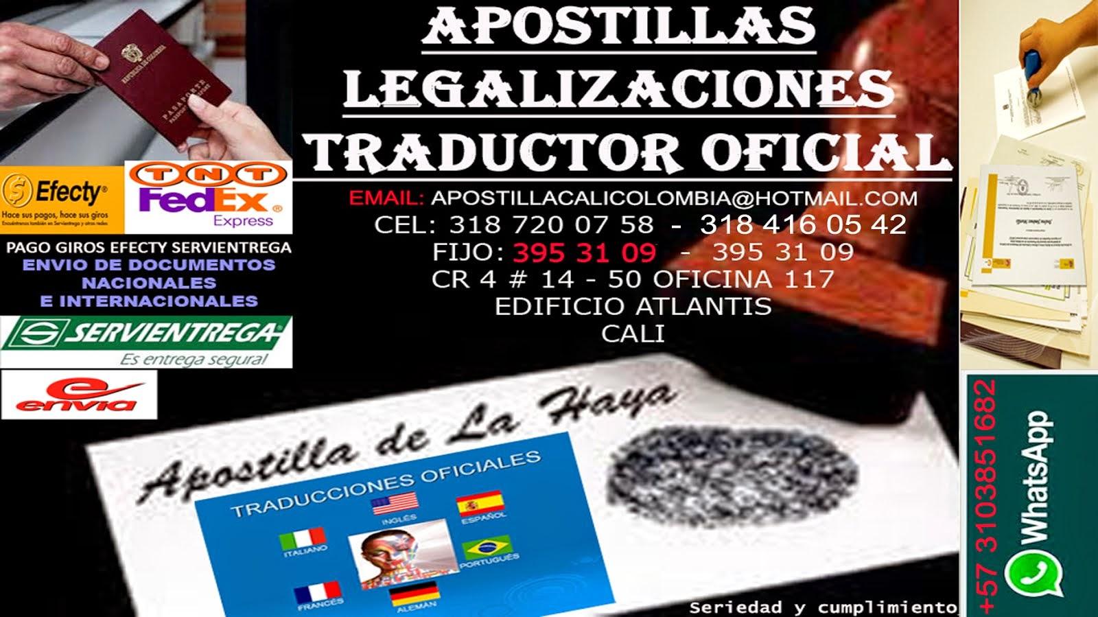 Apostilla colombia apostilla de documentos oficiales en for Oficinas dhl colombia