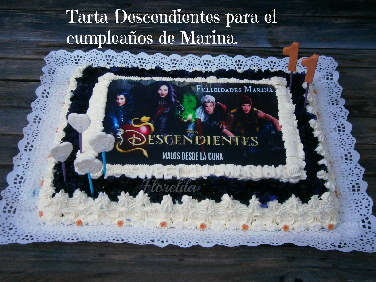 Tarta Descendientes Para Marina De on moldes de galletas