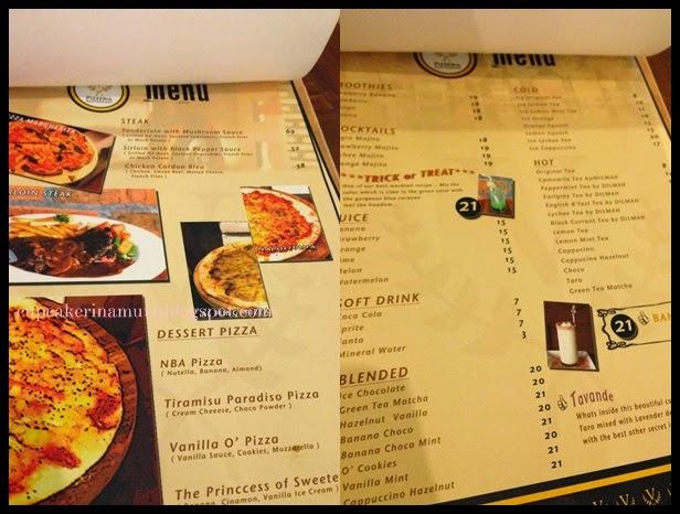 Kuliner jogja v pizzeria restaurant rina chabbymutz for Z kitchen jogja menu