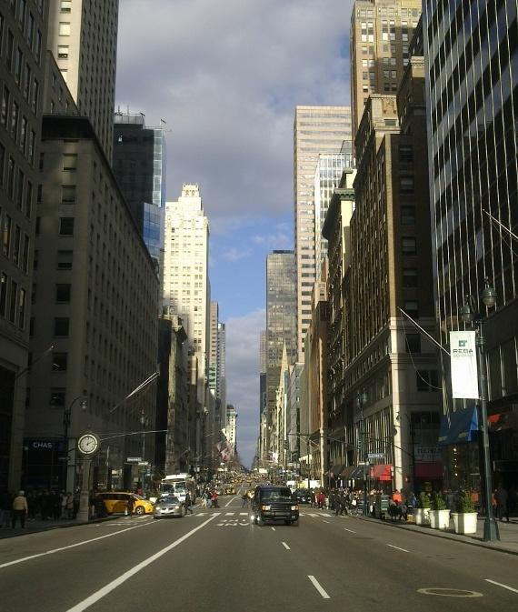 bajando la quinta avenida, enero 2012