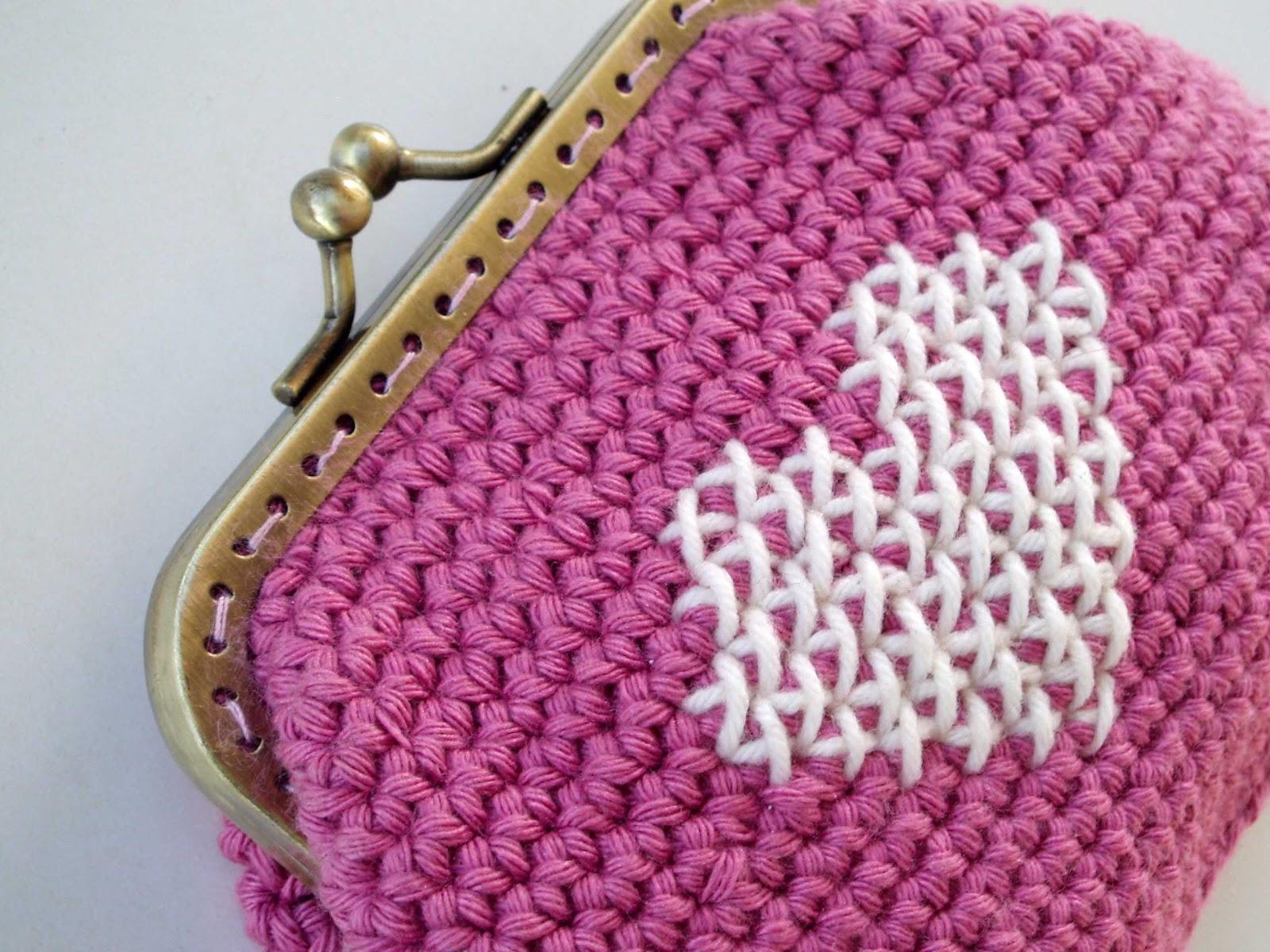 Monedero con boquilla espacio crochet for Monedero ganchillo boquilla ovalada