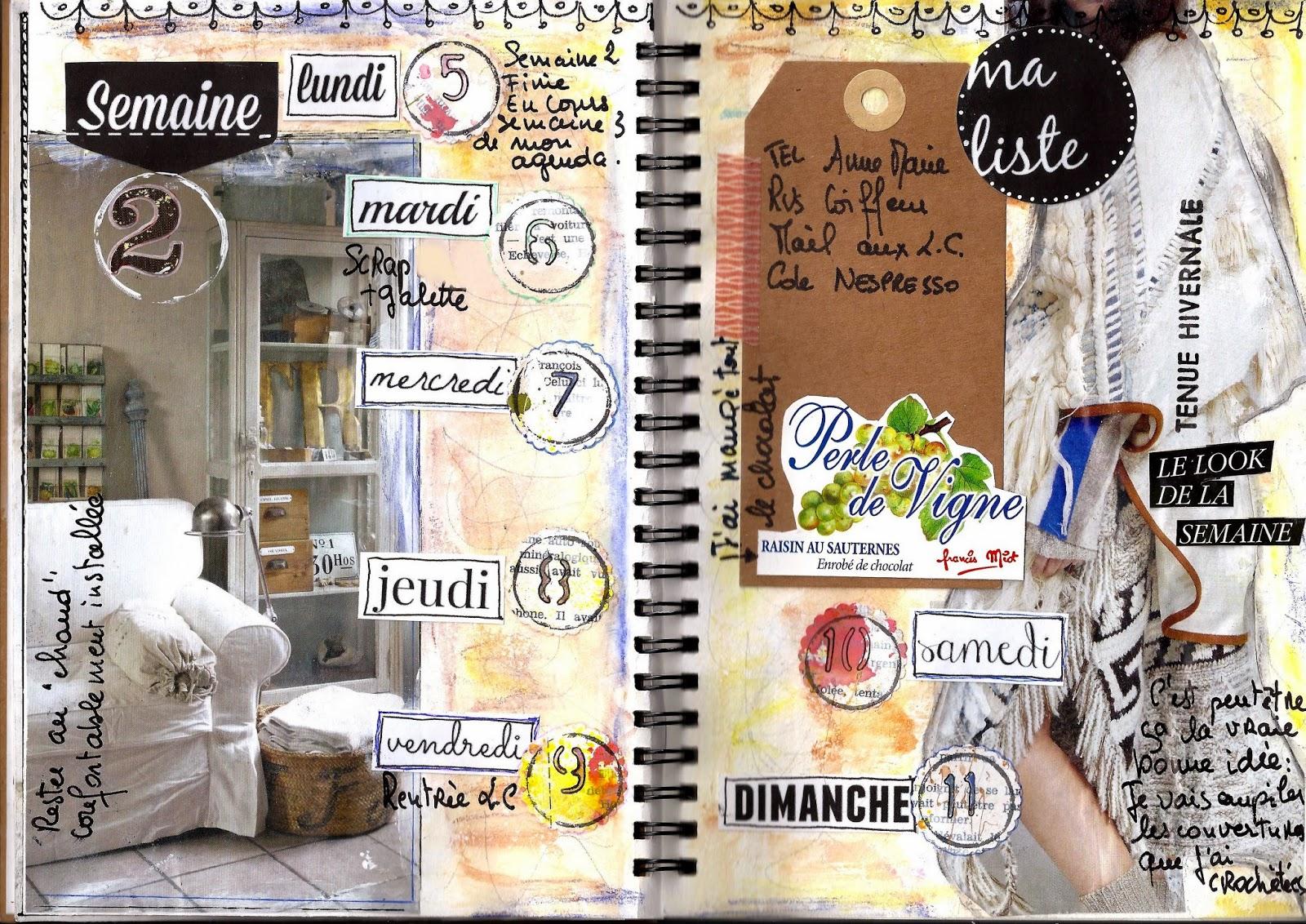 Mon agenda personnalis en 2015 janvier - Comment customiser un classeur ...