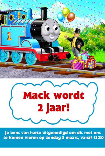 Uitzonderlijk Thomas de Trein feestje - Macks tweede verjaardag - MizFlurry US28