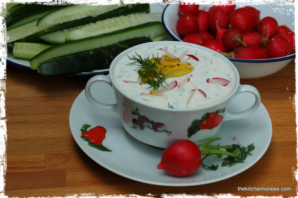 Radish Dip - The Colors of Summer and a Retro Feeling
