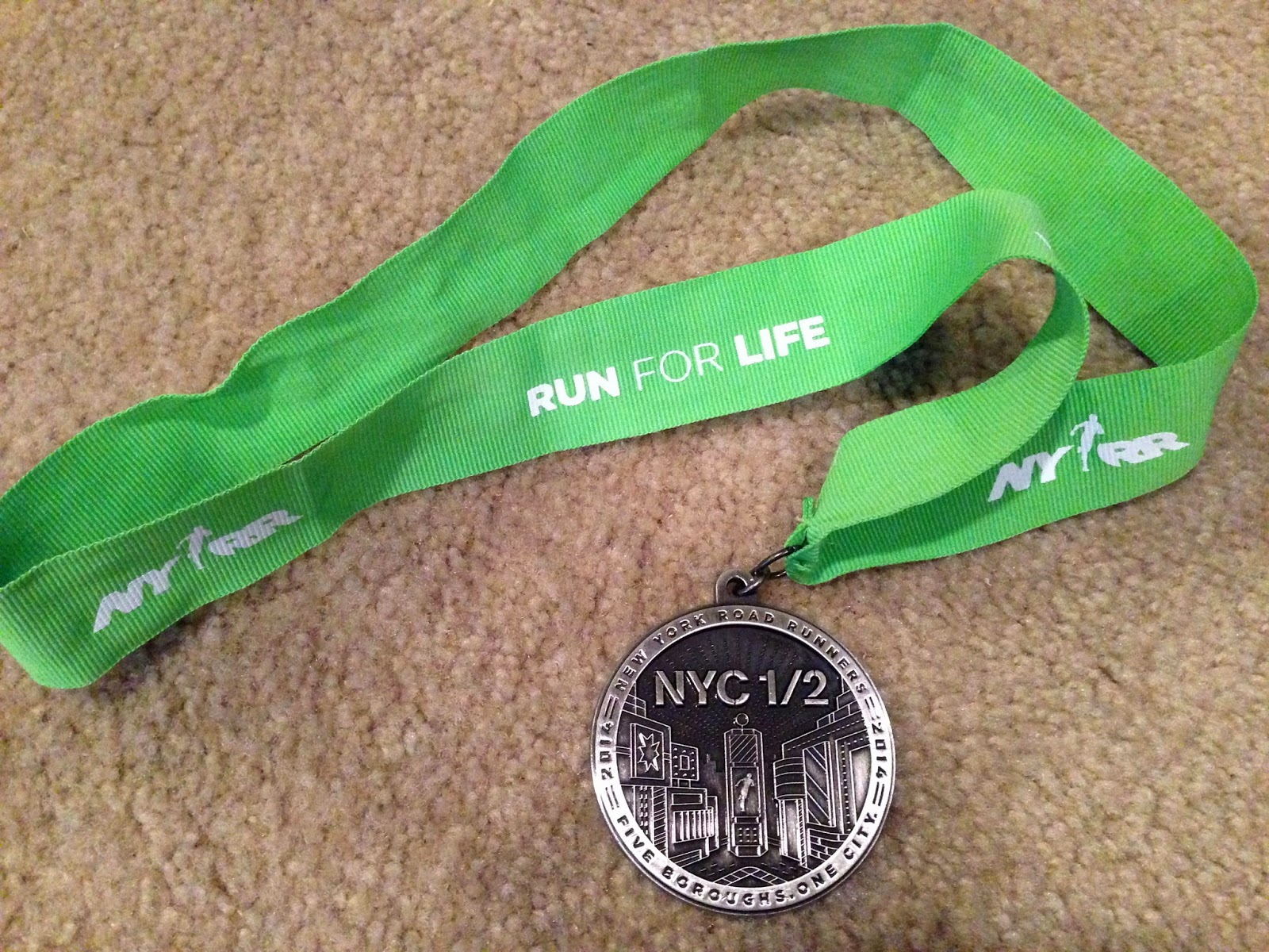 NYC half 2014 finisher medal
