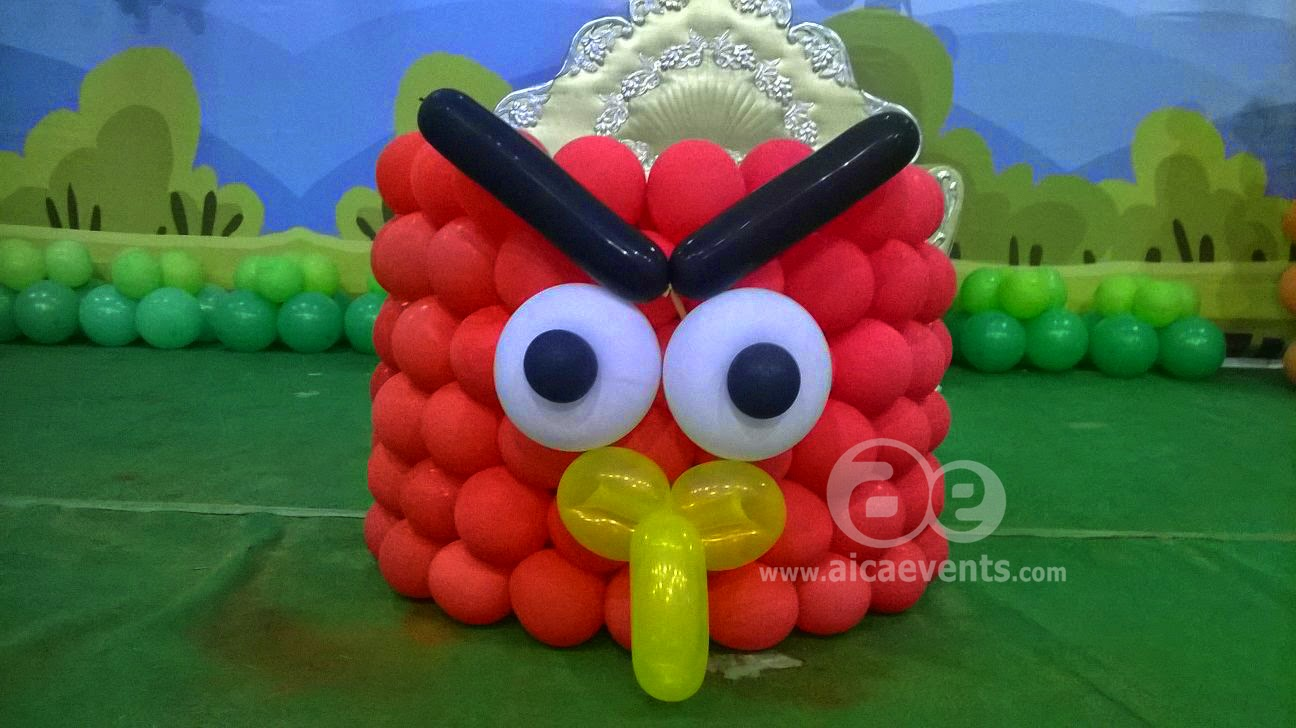 Aicaevents angry bird setup and theme for birthday parties for Angry bird birthday decoration ideas