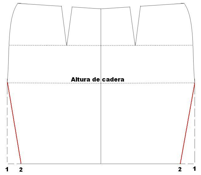 Mujeres y alfileres: Falda sirena con circunferencia completa