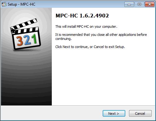 Instal MPC-HC O2