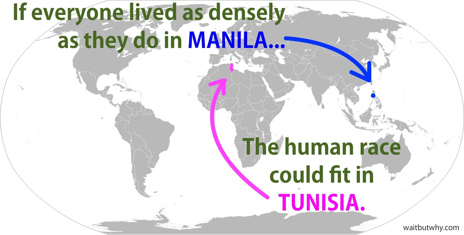 What If All Billion People Moved To Tunisia Wait But Why - Tunisia earth map
