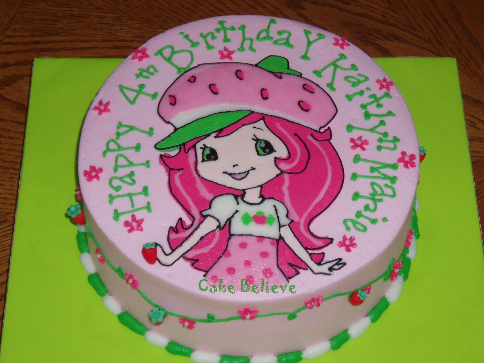 Cake Ideas, Strawberries Cake, Character Cake, Strawberry Shortcake ...