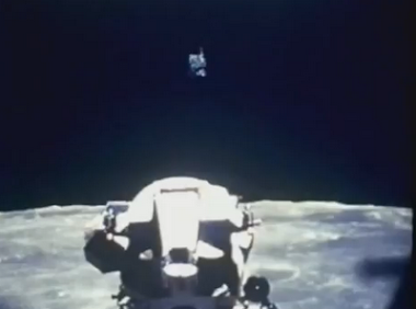 UFO over Lunar Module of Apollo Mission, from NASA archives, slow motion, discovered Feb 6, 2012.