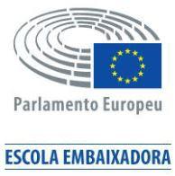 Estamos a participar no Projeto Escola Embaixadora do Parlamento Europeu