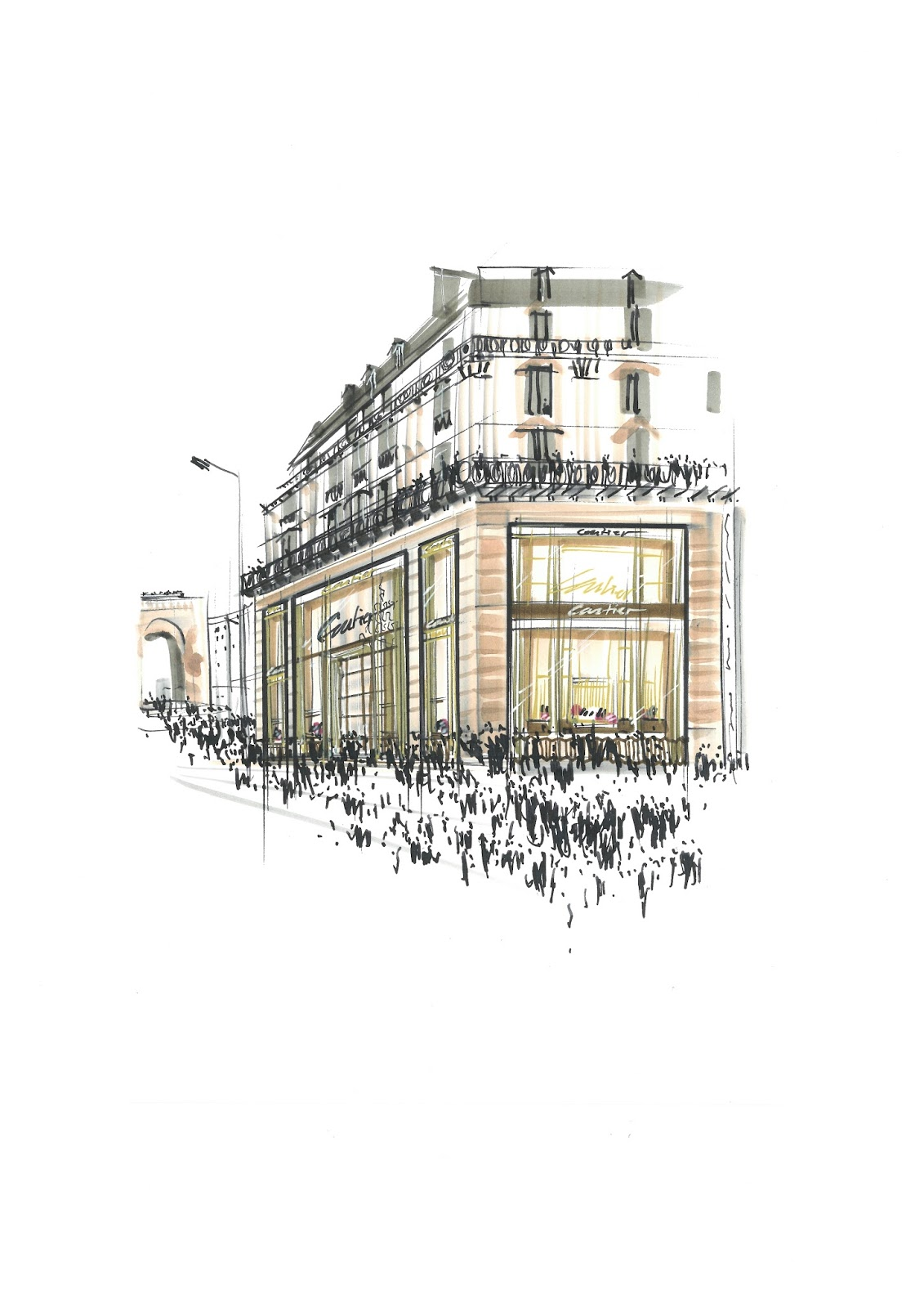 Esta o cronogr fica cartier reabre boutique dos champs for 31 twenty five boutique