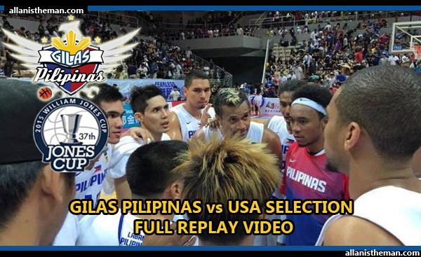 Gilas Pilipinas beats USA Selection - Jones Cup 2015 (FULL GAME REPLAY VIDEO)