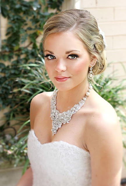 """""""Victoria Necklace"""" - Hand Beaded Lace Statement Bridal Necklace"""