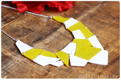 collier géométrique pâte fimo do it yourself blog Dollicious