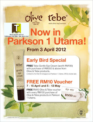 Olive & Tebe FREE Voucher