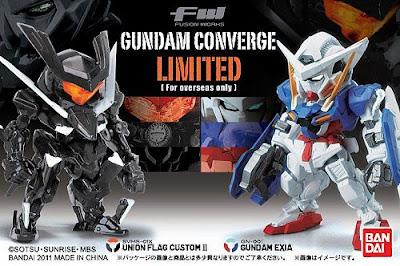 Limited Edition FW Gundam Converge Gundam Exia vs Union Flag Custom II Pearl Color