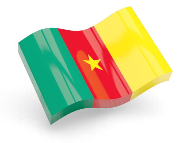 3D waving flag model of Cameroon country flag