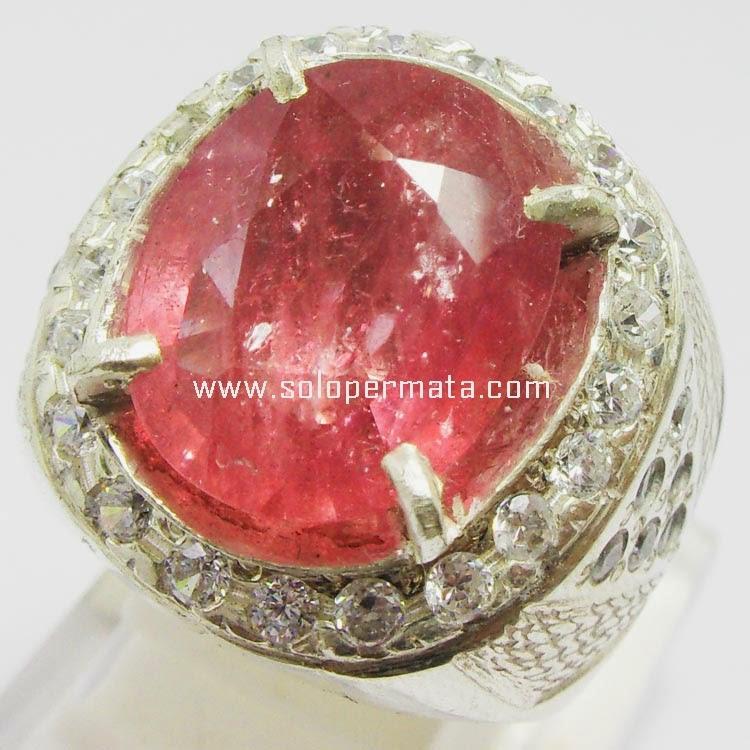 Cincin Batu Permata Padparadscha Sapphire