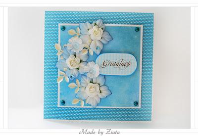scrapbooking kartka narodziny gratulacje