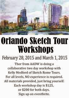 First Orlando Sketch Tour Workshops