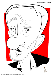 Jeremy Corbyn caricature by Ian Davy Brown