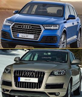 Exterior Front View: 2015-2016 Audi 1st gen Q7 vs 2nd gen Q7