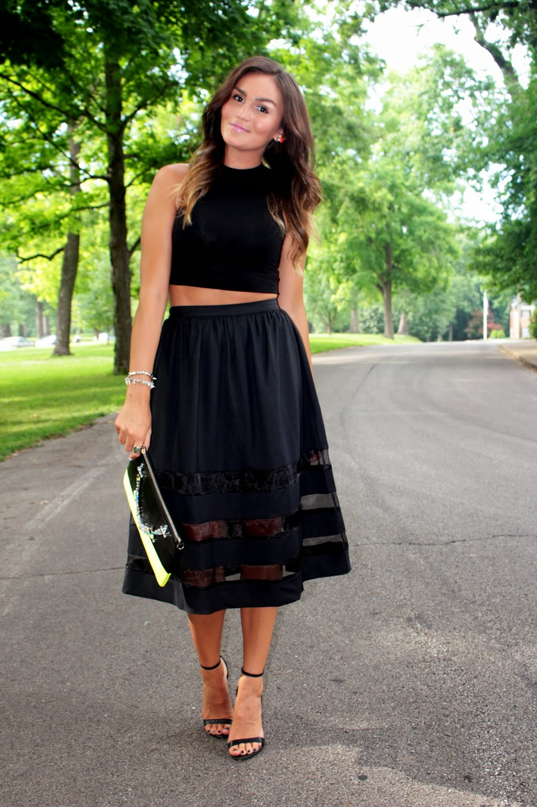 because I'm obsessed: Sheer Panel Midi
