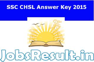 SSC CHSL Answer Key 2015